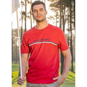 Camiseta-Aleatory-Estampada-Ribbon-Vermelha-Vermelho-P