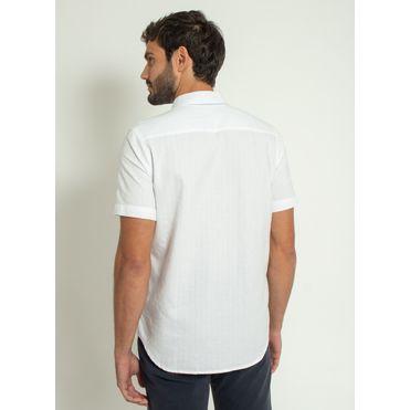 Camisa-Aleatory-Smart-Manga-Curta-Branca-Branco-P