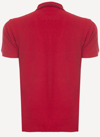 Camisa-Polo-Aleatory-Piquet-Recortada-Brasao-Vermelha-Vermelho-P