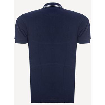 Camisa-Polo-Aleatory-Piquet-Recortada-Brasao-Marinho-Azul-Marinho-P