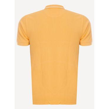 Camisa-Polo-Aleatory-Piquet-Recortada-Brasao-Amarela-Amarelo-P
